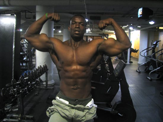 Fred Sanya Shows His Guns!