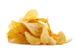 The calorie count of foods like potato chips are deceptive given the unrealistic serving sizes