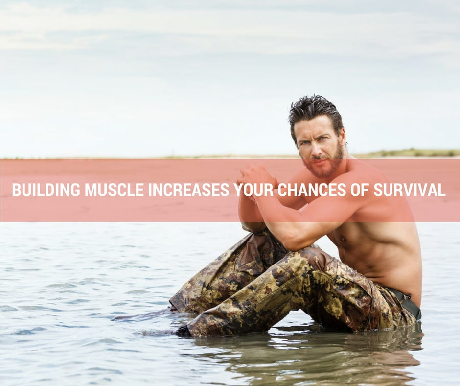 Building muscle increases your chances of survival